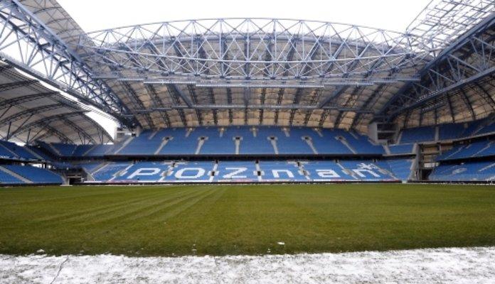 Inea Stadion w Poznaniu - widok na trybunę od strony ul. Bułgarskiej
