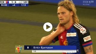 EL. LM: FC Basel – Lech 1:0: Gol Bjarnasona