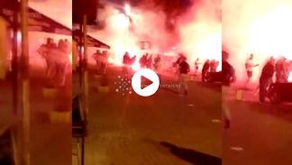 Świadkowie o burdach w Kijowie: Wszędzie latały krzesła. Ci chłopcy byli napakowani
