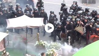 Tak polscy i ukraińscy pseudokibice wszczynali burdy przed meczem el. LE w Kijowie