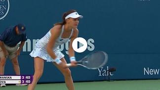 WTA New Haven: 1/4 finału: A. Radwańska - P. Kvitova (mecz)
